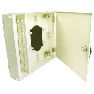 24-Port Fiber Optic Wall Mount Patch Panel Cabinet