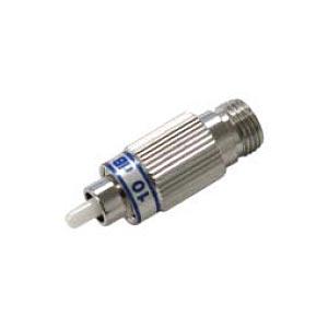 FC-FC Singlemode Fiber Optic Plug Type Attenuator, Male to Female, 25 dB