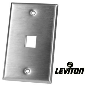 1-port leviton stainless steel keystone wallplate